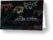 Voyages Oniriques / Dreamlike Trips Greeting Card