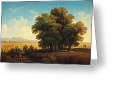Vue Af Romerska Campagnan Greeting Card