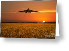Vulcan Farewell Fly Past Greeting Card
