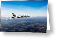 Vulcan In Flight 2 Greeting Card