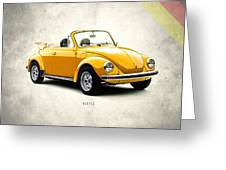 Vw Beetle 1972 Greeting Card