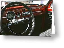 Vw Beetle Interior Greeting Card