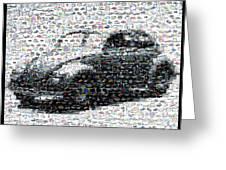 Vw Bug Volkswagen Mosaic Greeting Card