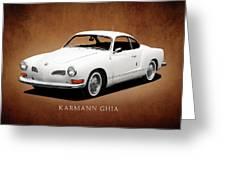 Vw Karmann Ghia Greeting Card by Mark Rogan