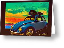 Classic Surf Rod Greeting Card
