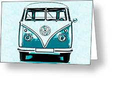 Vw Van Graphic Artwork Greeting Card