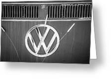 Vw Van Logo Greeting Card