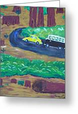 Vws In The Redwoods Greeting Card