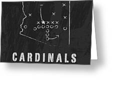 Arizona Cardinals Art - Nfl Football Wall Print Greeting Card by Damon Gray