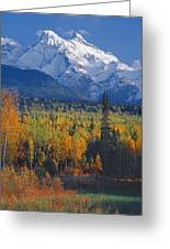 102238-v-w End Of Seven Sisters Mountain  Greeting Card