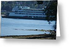Wa State Ferry In Manchester Greeting Card