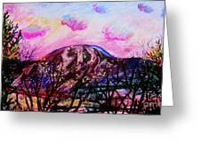 Wachusett Pastel Sunset Greeting Card by Emily Michaud