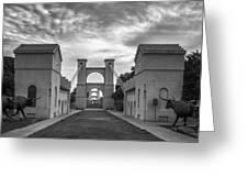 Waco Historical Suspension Bridge Greeting Card