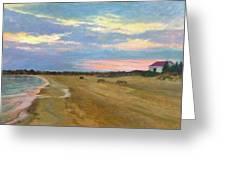 Wades Beach Sundown Study II Greeting Card