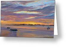Wades Beach Sunset Greeting Card