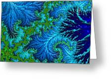 Fractal Art - Wading In The Deep Greeting Card