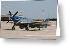 Wafb 09 P-51 Mustang 3 - Darling Of The Sky Greeting Card