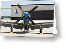 Wafb 09 P51 Mustang 2 - Darling Of The Sky Greeting Card