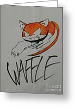 Waffle Greeting Card