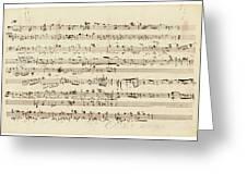 Wagner, Richard Autograph Working Drafts For Act I Of Der Fliegende Hollander Greeting Card