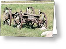 Wagon Aged Greeting Card
