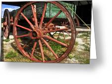 Wagon And Wheel Greeting Card