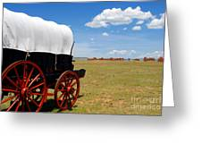 Wagon At Old Fort Union Greeting Card