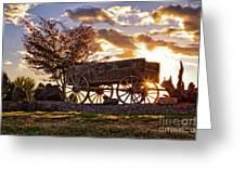 Wagon Hdr Greeting Card