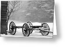 Wagon In Winter Greeting Card