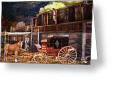 Wagon Repair Greeting Card