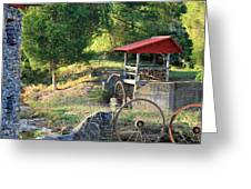 Wagon Shed Greeting Card by Suzanne Gaff