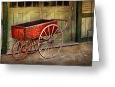 Wagon - That Old Red Wagon  Greeting Card