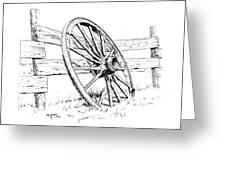Wagon Wheel Greeting Card by Bob Hallmark