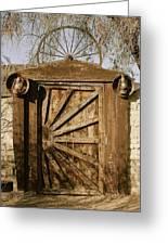 Wagon Wheel Gate Greeting Card