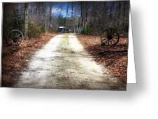 Wagon Wheel Lane Greeting Card