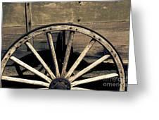 Wagon Wheel - Old West Trail N832 Sepia Greeting Card