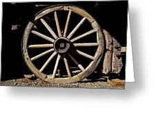 Wagon Wheel Texture Greeting Card
