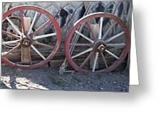 Wagon Wheels. Greeting Card