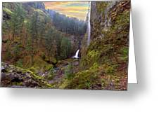 Wahclella Falls In Columbia River Gorge Greeting Card