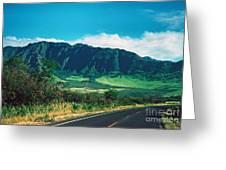 Waianae Mountains Greeting Card