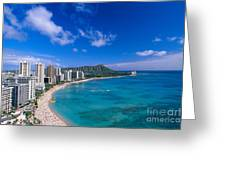 Waikiki And Diamond Head Greeting Card