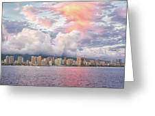 Waikiki Beach Sunset Greeting Card