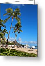 Waikiki Greeting Card by Kerri Ligatich