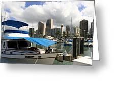 Waikiki Port Greeting Card