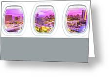 Waikiki Porthole Windows Greeting Card