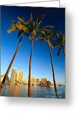 Waikiki Skyline Greeting Card