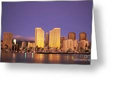 Waikiki Skyline Greeting Card
