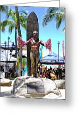 Waikiki Statue - Duke Kahanamoku Greeting Card