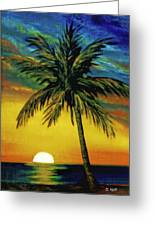 Waikiki Sunset #38 Greeting Card