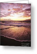 Wailea Beach At Sunset Greeting Card